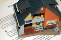 House model on papers