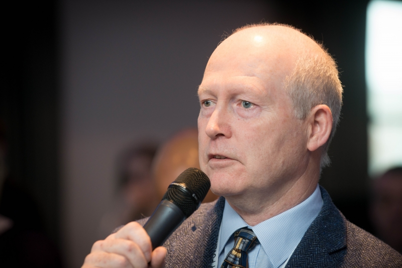 Kevin O'Rourke at the Energy Action Conference 2018, Croke Park, March 29th, 2018. Photograph by WovenContent