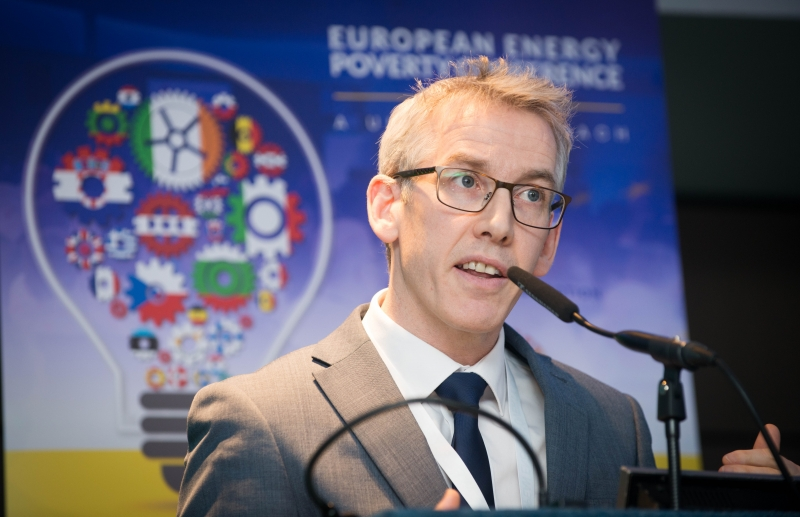 DERMOT MULLIGANMarketing Controller, Bord Gáis Energy, addresses the European Energy Poverty Conference 2018, Croke Park, March 29th, 2018. Photograph by WovenContent