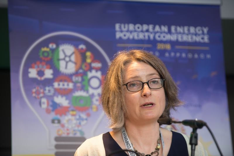 Rebecca Minch, Principal Officer leading the Energy Efficiency & Affordability Division in Dept. Communication, Climate Action and Environment. at the European Energy Poverty Conference 2018, Croke Park, March 29th, 2018. Photograph by WovenContent