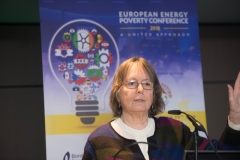 DR BRENDA BOARDMANEmeritus Fellow, Environmental Change Institute, Oxford University addresses European Energy Poverty Conference 2018, Croke Park, March 29th, 2018. Photograph by WovenContent