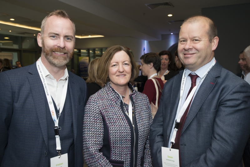 Fuel Poverty Conference / Energy Action - Oct 21st 2019 - Croke Park -*- Fintan Smyth, Isover, Emer Burton SEAI, and Sean Armstrong, Dept of Housing, Planning and Local Government.