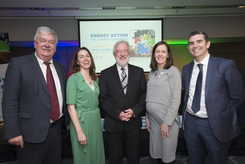 Fuel Poverty Conference / Energy Action - Oct 21st 2019 - Croke Park -*-John Dwane, Electric Ireland, Lorraine McCullin, Bord Gais, Prof Owen Lewis, Panel Chair, Deirdre O'Leary,Commission for the Regulation of Utilities, Stuart Hobbs, SSE Airtricity,