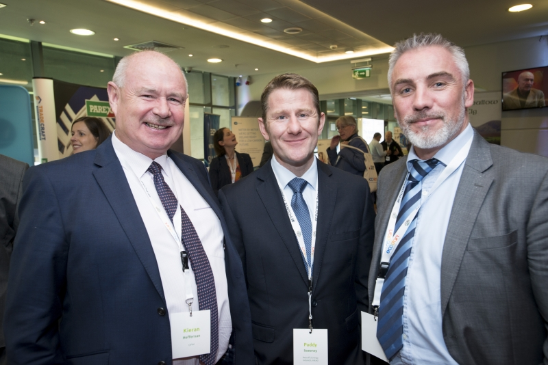 Fuel Poverty Conference / Energy Action - Oct 21st 2019 - Croke Park -*-Kieran Heffernan, OPW, Paddy Sweeney Retrofit Ireland and Joseph O'Dowd Bord Gais Energy.