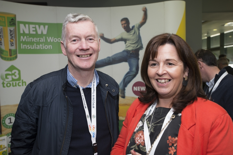 Fuel Poverty Conference / Energy Action - Oct 21st 2019 - Croke Park -*-Terence Gallagher, Premier Insulation Solutions and Clare Ryan, Warm Projects.