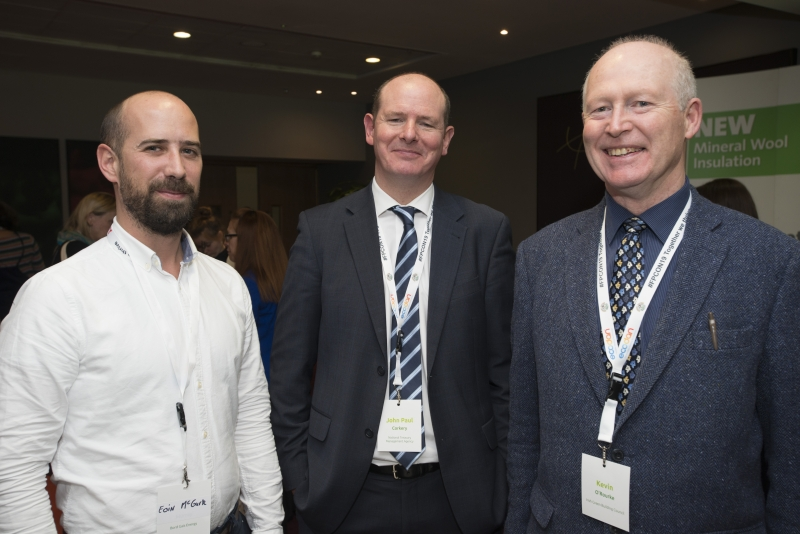 Fuel Poverty Conference / Energy Action - Oct 21st 2019 - Croke Park -*-Eoin McGurk, Bord Gais Eireann, John Paul Corkery, National Treasury Management Agency, Kevin O'Rourke. Irish Green Building Council.