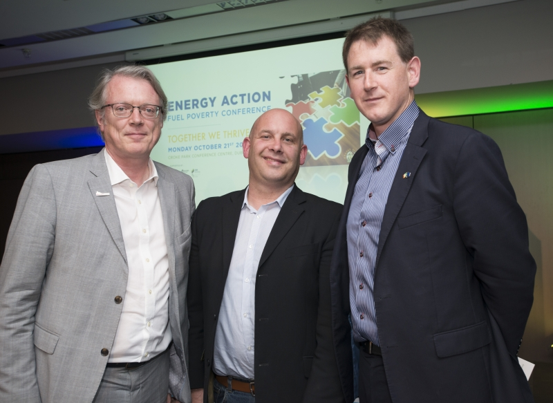 Fuel Poverty Conference / Energy Action - Oct 21st 2019 - Croke Park -*-Ardian Joyce, EuroACE, Niall Dunphy, UCC and Paul Kenny,Tipperary Energy Agency.