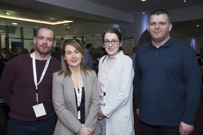 Fuel Poverty Conference / Energy Action - Oct 21st 2019 - Croke Park -*- Keith McDonagh and Martin Ward, First Class Installation, Galway with Alma Gallagher and Finola Flaming, Clarich, Mayo.