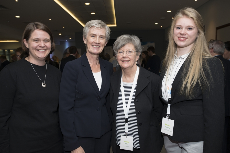 Fuel Poverty Conference / Energy Action - Oct 21st 2019 - Croke Park -*- Nicola Awford, British Embassy, Finola Moylett, Principal Officer in the Department of Rural and Community Development, Isoilde Dillon, Housing Agency and Simona Okunjolu, Audrey Gaffney Associates.