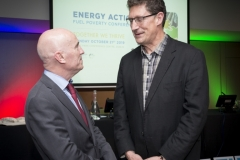 Fuel Poverty Conference / Energy Action - Oct 21st 2019 - Croke Park -*-Brian McSharry CEO, Energy Action chats with Eamonn Ryan TD., Leader of the Green Party.