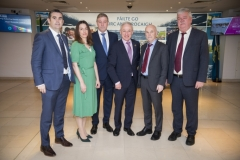 Energy Action Conference - Oct 21st 2019 - Croke Park -*-Stuart Hobbs, SSE Airtricity Energy Services, Lorraine McCullan, Bord Gais Energy, David McCarthy, Chairman, Energy Action, Richard Bruton, Minister for Communications, Climate Action & Environment, Brian McSherry, Chief Executive Officer, Energy Action, John Dwan, Electric Ireland.
